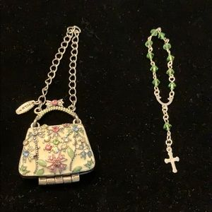 Mini handmade rosary with purse holder